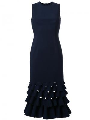Платье с оборками Slash Dion Lee. Цвет: чёрный