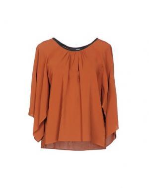 Блузка .TESSA. Цвет: коричневый