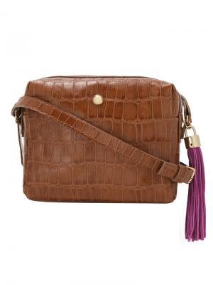 Кожаная сумка Xaa. Цвет: коричневый
