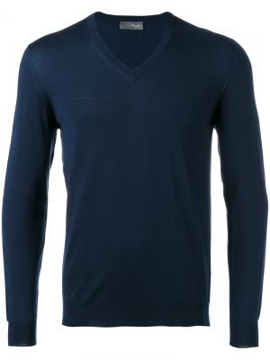V-neck jumper Drumohr. Цвет: синий