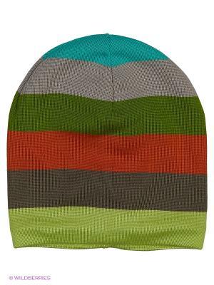 Шапка Logro-kids. Цвет: салатовый, коричневый, оранжевый, зеленый, бирюзовый