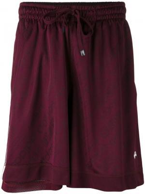 Спортивные шорты Adidas Originals By Alexander Wang. Цвет: розовый и фиолетовый