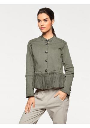 Куртка Linea Tesini. Цвет: оливковый