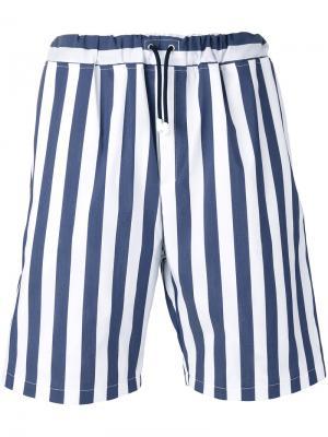 Drawstring striped shorts Lc23. Цвет: синий
