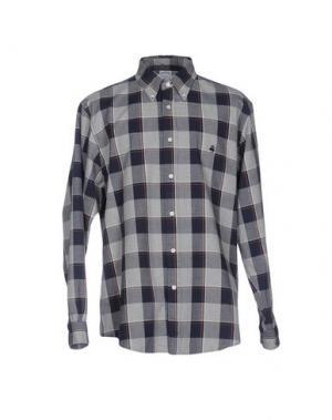 Pубашка BROOKS BROTHERS. Цвет: серый