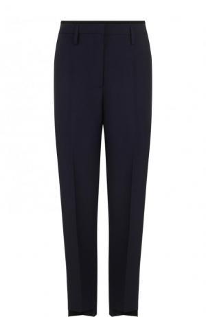 Укороченные брюки прямого кроя со стрелками и лампасами Golden Goose Deluxe Brand. Цвет: темно-синий
