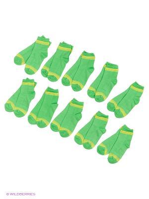 Носочки детские Тульский трикотаж (комплект 10 пар). Цвет: зеленый