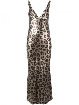 Длинное платье Andomeda Haider Ackermann. Цвет: чёрный