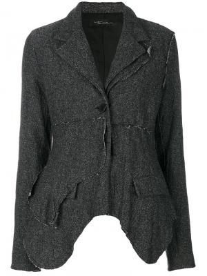 Асимметричный пиджак Barbara Bologna. Цвет: серый