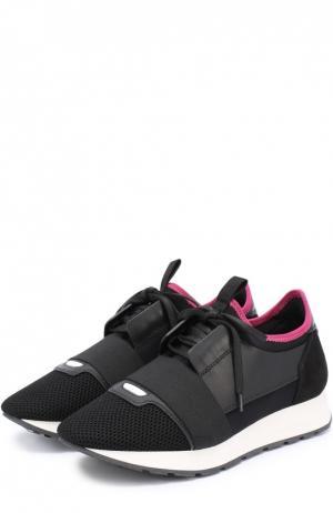 Комбинированные кроссовки с эластичной вставкой Balenciaga. Цвет: черный