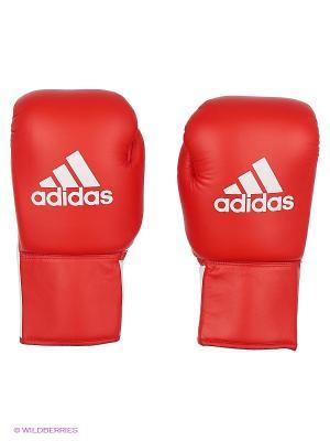 Перчатки боксерские Glory Professional Adidas. Цвет: красный