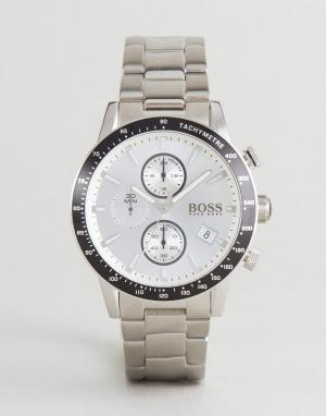 BOSS Серебристые наручные часы с хронографом By Hugo 1513511 Rafa. Цвет: серебряный