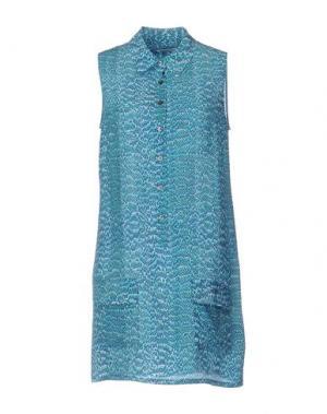 Короткое платье EQUIPMENT FEMME. Цвет: бирюзовый
