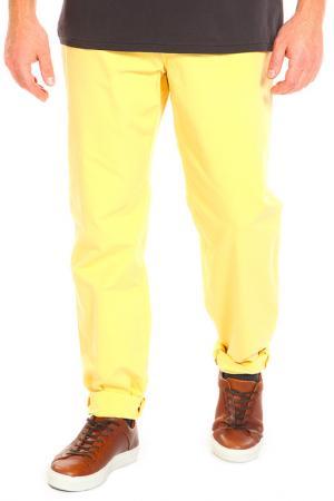Брюки INCOTEX. Цвет: желтый