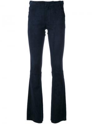 Расклешенные брюки Drome. Цвет: синий