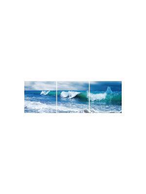 Бушующее море DECORETTO. Цвет: белый, синий, голубой