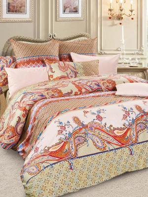 Комплект постельного белья, сатин, 1,5-спальный Letto. Цвет: серый
