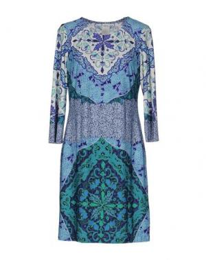 Короткое платье ALI RO. Цвет: синий