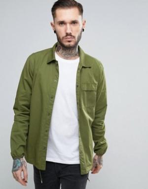 Penfield Зеленая рубашка навыпуск в стиле милитари Blackstone. Цвет: зеленый
