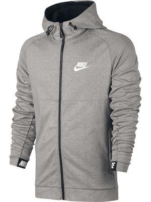 Толстовка M NSW AV15 HOODIE FZ FLC Nike. Цвет: темно-серый