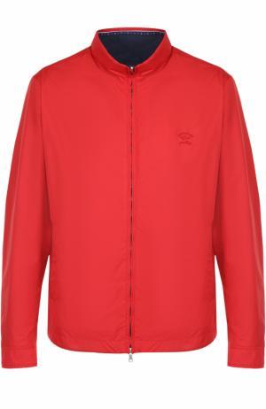 Куртка на молнии с воротником-стойкой Paul&Shark. Цвет: красный