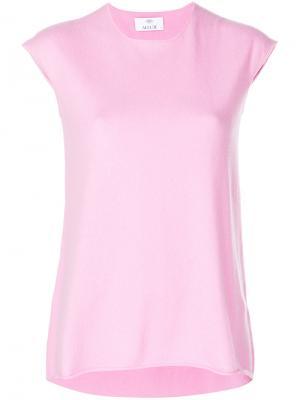 Топ без рукавов Allude. Цвет: розовый и фиолетовый