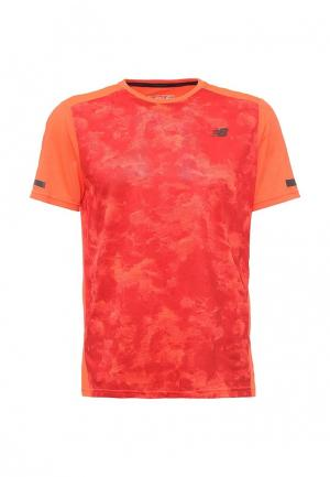 Футболка спортивная New Balance. Цвет: оранжевый