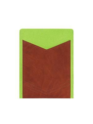 Чехол фетровый для планшета 8 дюймов с кожаным карманом IQ Format. Цвет: зеленый