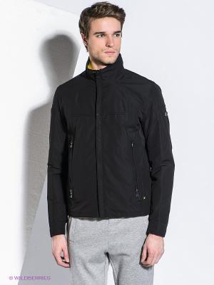 Куртка Jamar HUGO BOSS. Цвет: черный, желтый