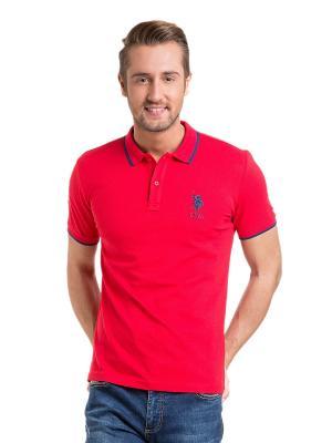 Футболка-поло U.S. Polo Assn.. Цвет: темно-синий, красный