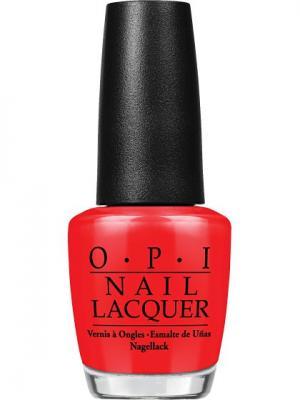 Opi Лак для ногтей The Thrill of Brazil, 15 мл. Цвет: красный