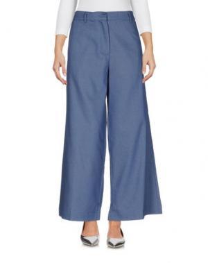 Джинсовые брюки ROBERTO COLLINA. Цвет: синий