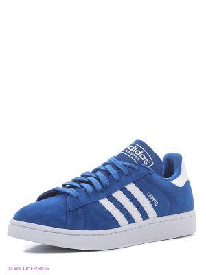 Кроссовки CAMPUS Adidas. Цвет: голубой, белый