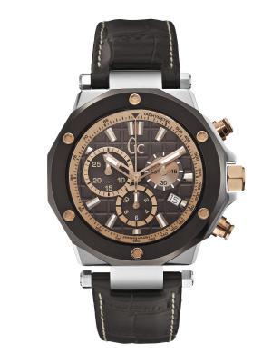 Часы GC. Цвет: коричневый, золотистый, серебристый