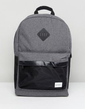 Spiral Черно-серый рюкзак. Цвет: серый