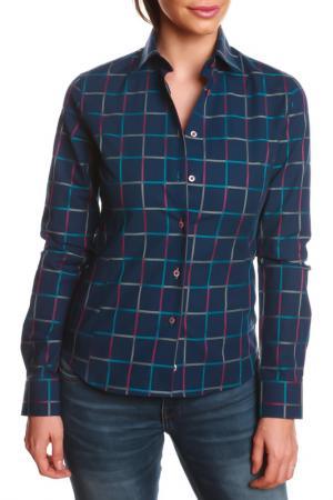 Рубашка GAZOIL. Цвет: blue, red, gray