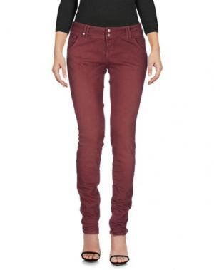 Джинсовые брюки JCOLOR. Цвет: красно-коричневый