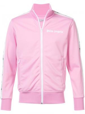 Спортивная куртка Barbwire Palm Angels. Цвет: розовый и фиолетовый