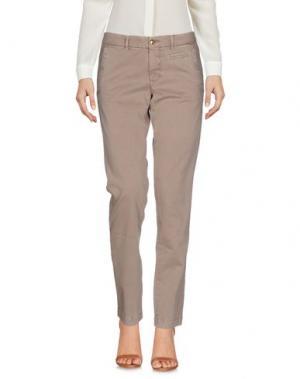 Повседневные брюки MONOCROM. Цвет: хаки
