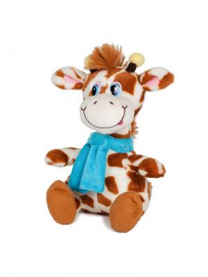 Мягкая Игрушка Жираф Димон в Шарфике, Озвученный, 20 См MAXITOYS. Цвет: светло-коричневый, бежевый