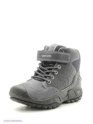 Спортивные ботинки GEOX. Цвет: серый, синий