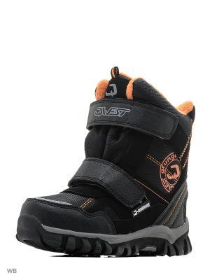 Ботинки QWEST. Цвет: черный, оранжевый