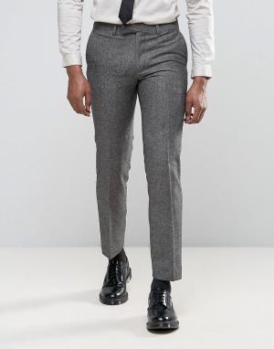 Harry Brown Облегающие брюки с добавлением шерсти. Цвет: серый