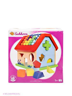 Развивающая игра- домик Simba. Цвет: зеленый, красный, оранжевый, желтый, голубой, молочный