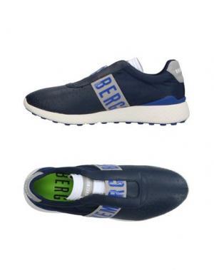 Низкие кеды и кроссовки BIKKEMBERGS. Цвет: темно-синий