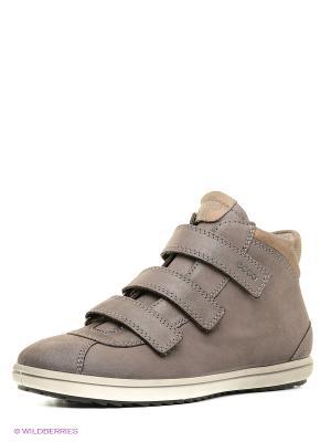 Ботинки ECCO. Цвет: темно-коричневый, серый