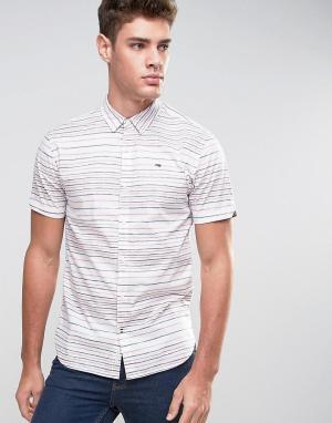 Hilfiger Denim Рубашка в горизонтальную полоску с короткими рукавами Tommy D. Цвет: красный