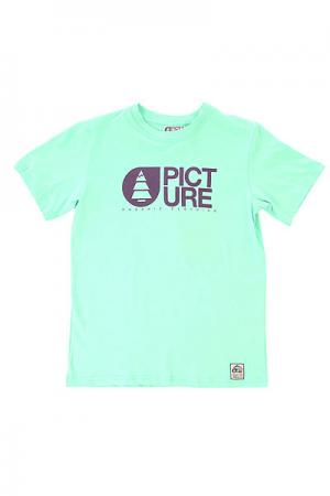 Футболка детская  Basement Pastel Green Picture Organic. Цвет: голубой