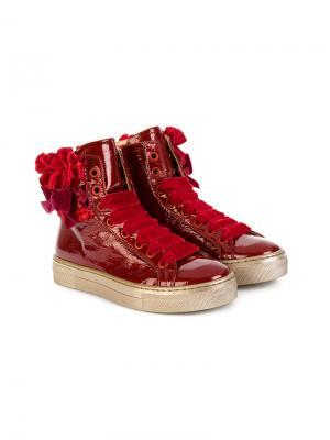 Ботинки на шнуровке Quis. Цвет: красный