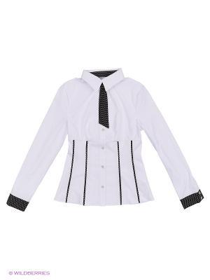Блузка КАЛIНКА. Цвет: белый, черный
